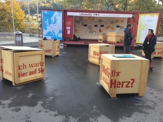Das Lohnmobil in Baden.
