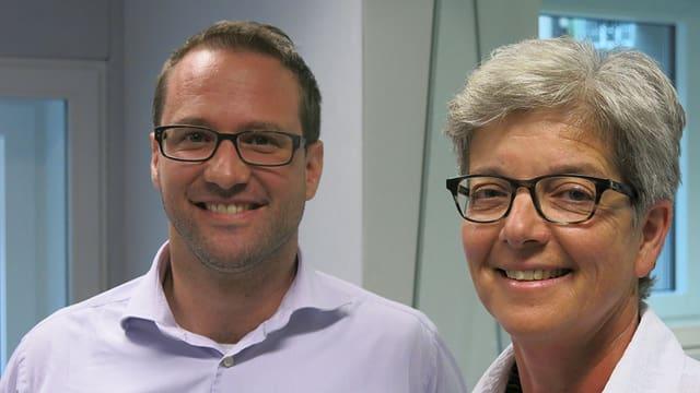 Reto Müller und Anne-Marie-Saxer im Regionaljournalstudio.