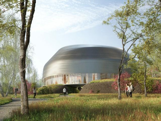 Visualisierung des Besucherzentrums (Aussenaufnahme)
