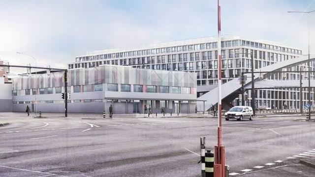 Visualisierung des geplanten Bundesasylzentrums in Züri-West
