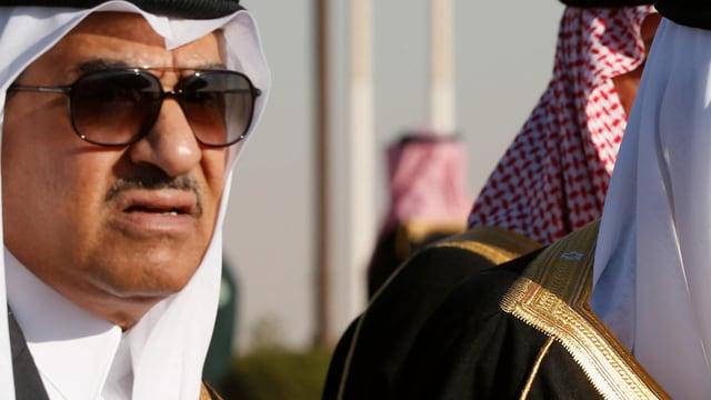 Mohammed Bin Najef (links) in einer gemeinsamen Aufnahme mit Bin Salman.