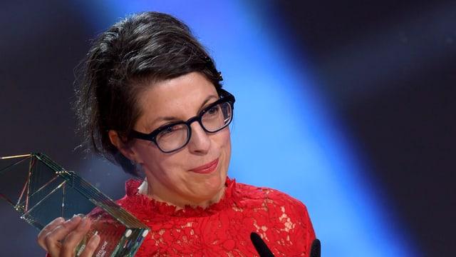 Petra Volpe mit Filmpreis an der Gala.