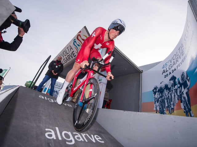 Stefan Küng an der Algarve-Rundfahrt.