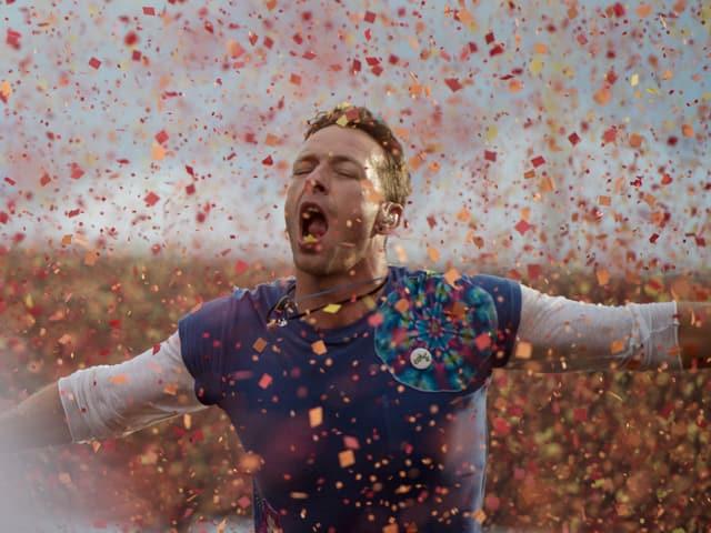 Coldplay boten im Zürcher Letzigrund-Stadion nicht nur ein musikalisches Feuerwerk.
