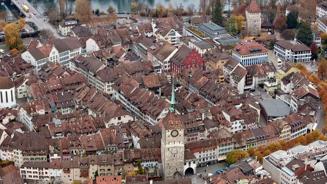 Aarau, Luftaufnahme