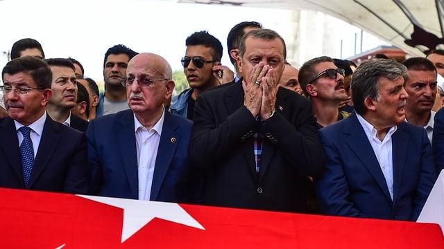 Gedenkveranstaltung für Opfer des Militärcoups, Istanbul, 17. Juli 2017.