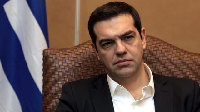 Alexis Tsipras mit dunkler Miene