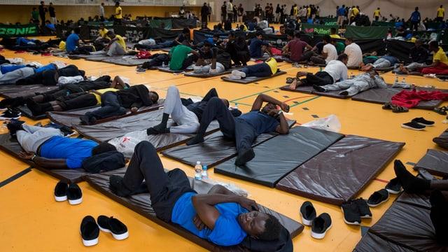 Flüchtlinge in Spanien.