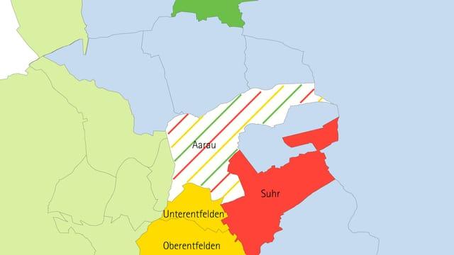 Karte Region Aarau