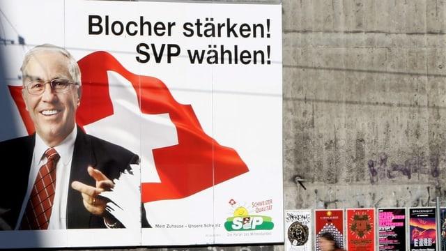 Plakat der SVP mit Christoph Blocher.