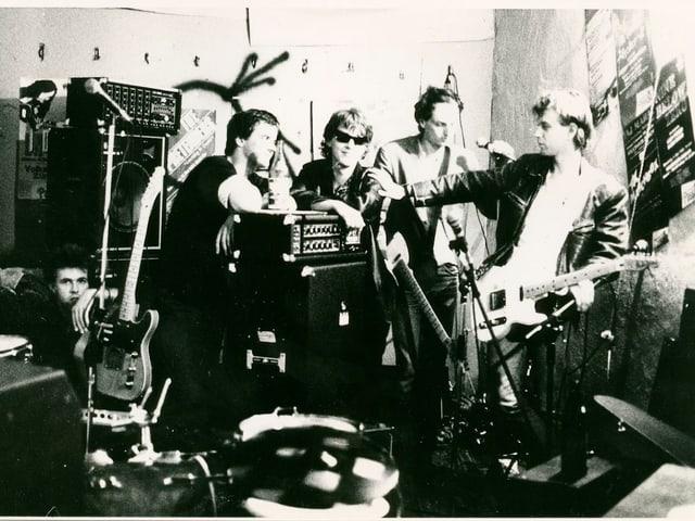 Bisher unveröffentlichte Fotos vom ersten Foto-Shooting mit Züri West.