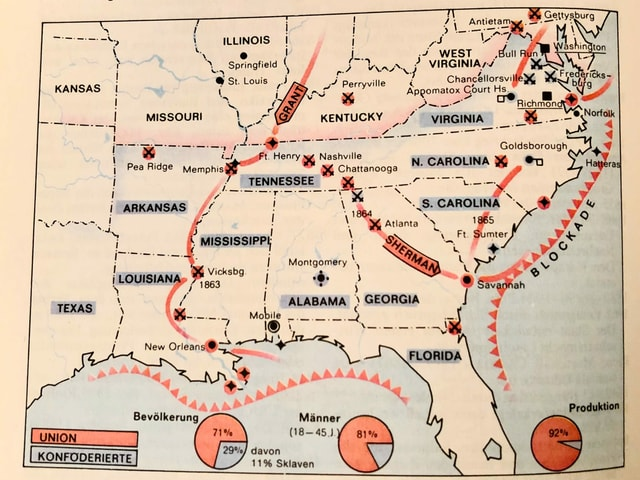 Grafik zum Sezessionskrieg