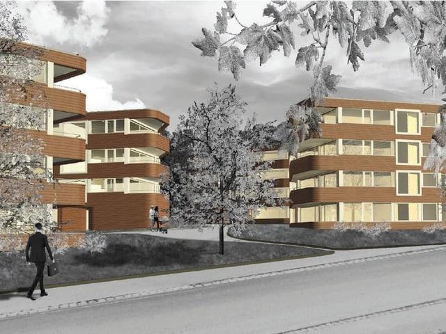 Visualisieriung Überbauung Wohnen im Park