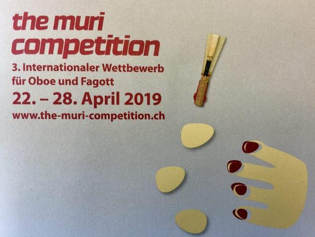 Auf dem Bild sind die Informationen für den Wettbewerb zu sehen