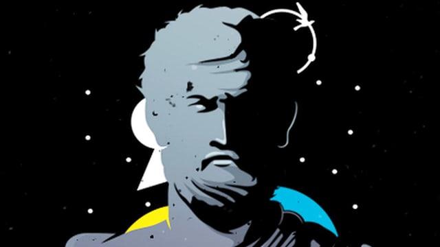 Ein Zeichnung eines Philosophen (Porträt).