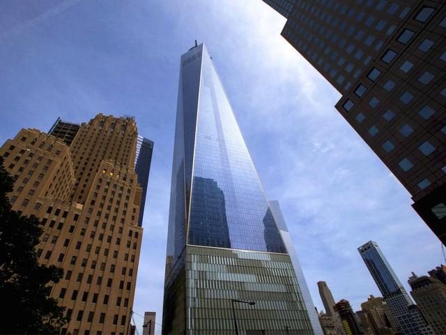 Der Turm des neuen One World Trade Centers.