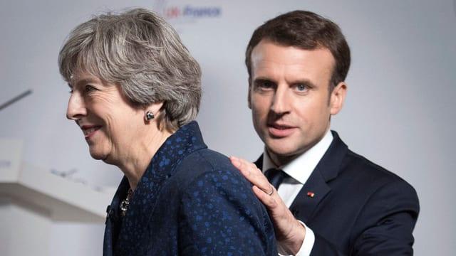 Macron und May