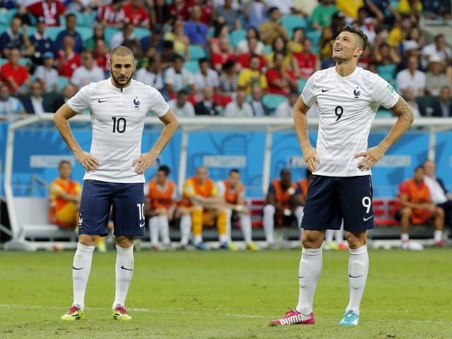 Karim Benzema und Olivier Giroud.