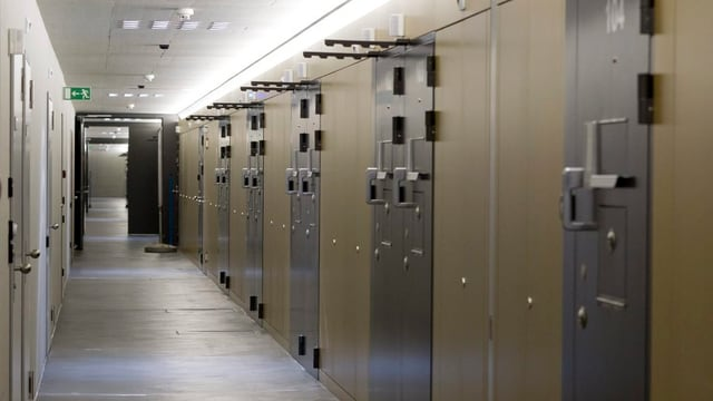 Gefängniszellen im neuen Zentralgefängnis Lenzburg