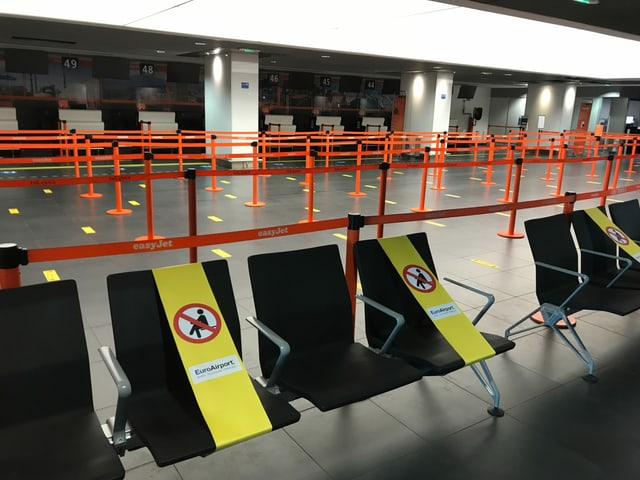 Während der Corona-Krise kamen praktisch keine Passagiere mehr: Beinahe Minus 100 Prozent weniger Passagiere.