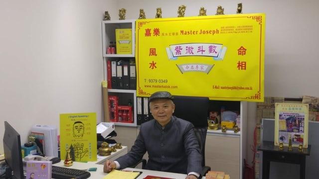 Joseph Wong in seinem Büro in Hongkong.