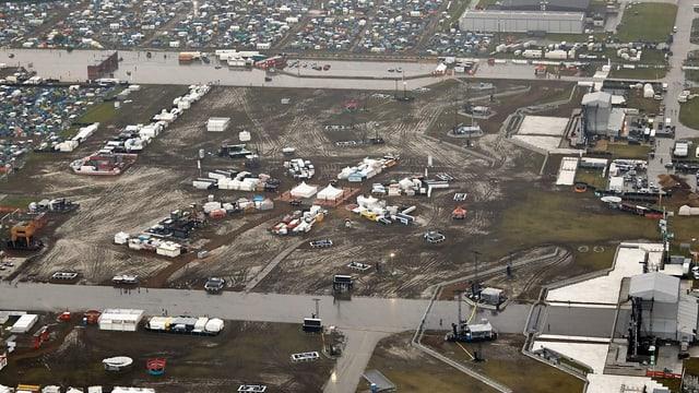Luftaufnahme des Festival-Geländes