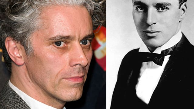 Porträt James Thieree und Charlie Chaplin.