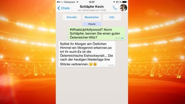 Kevin Schläpfer gibt einen Österreicher-Witz zum Besten.