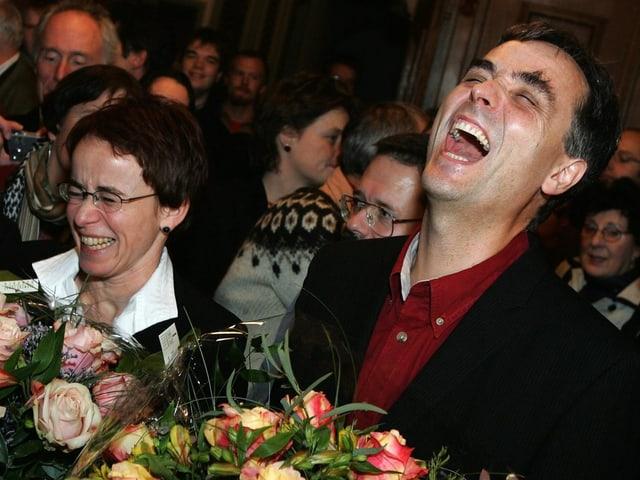Eva Herzog und Guy Morin