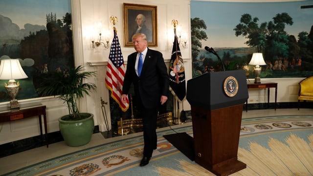 Trump im Weissen Haus.