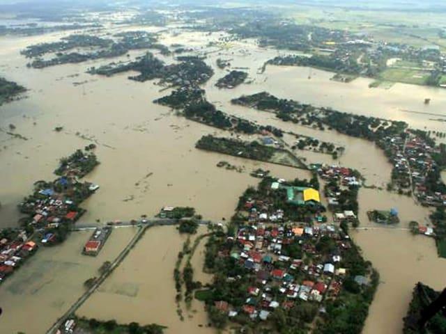 Luftbild nach Taifun