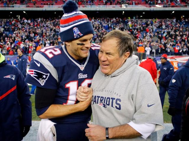 Tom Brady und Bill Belichick.