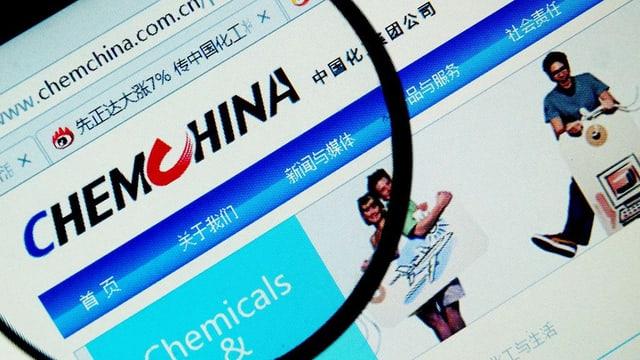 Die Internetseite von ChemChina