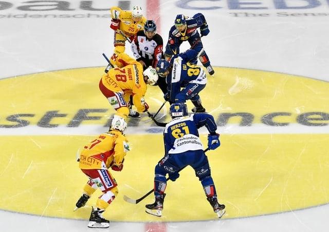 Eishockey-Spieler.