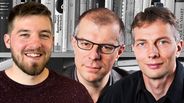 Porträt André Perler, Markus Gasser und Christian Schmutz.