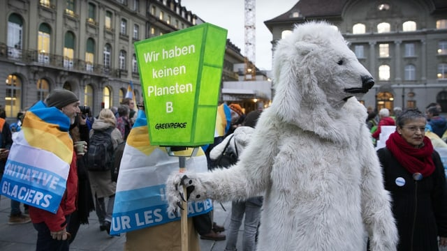 Klimademo in Bern.
