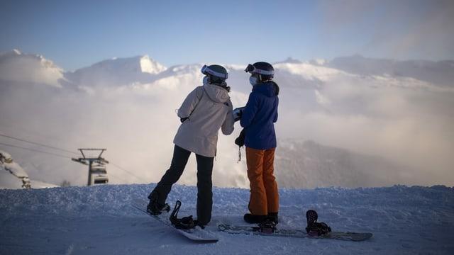 Duas snowboardistas