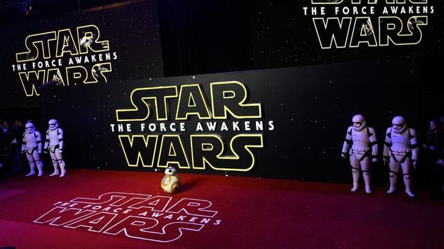Roter teppich von Star Wars