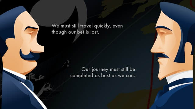 Our journey must still be completed, even though our bet is lost.