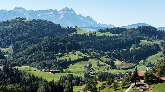 Blick über das Appenzellerland
