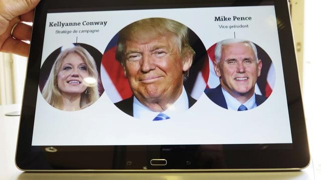 Trump mit zwei seiner Berater