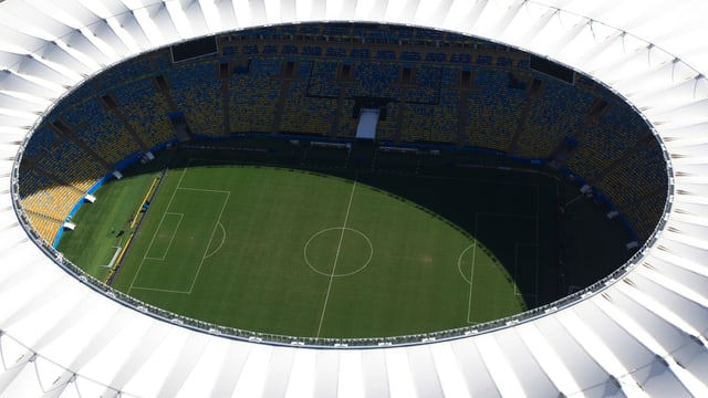 Lufaufnahme des Maracanã-Stadions in Rio de Janeiro