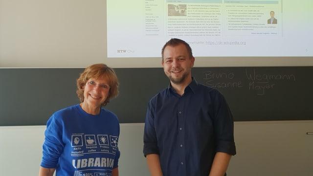 Ils dus docents dil suentermiezgi, Susanne Meyer e Bruno Wegman.