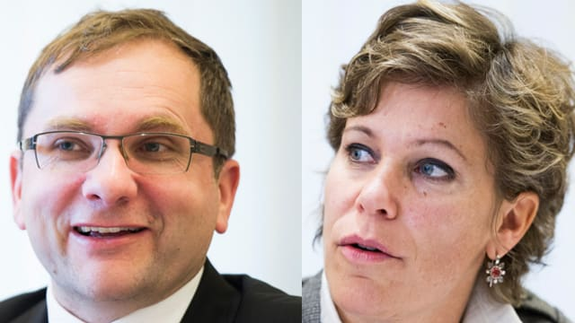 Winterthurer FDP-Stadträte Stefan Fritschi und Barbara Günthard-Maier