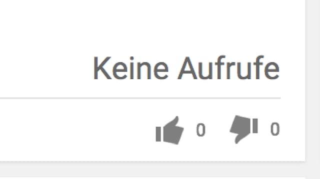 Der View-Counter auf Youtube steht auf 0