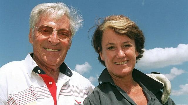 Ferdy Kübler mit seiner Frau Christina 1999