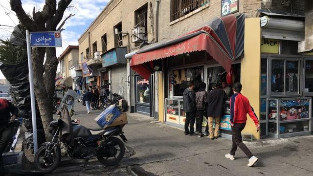 Strasse in Teheran.