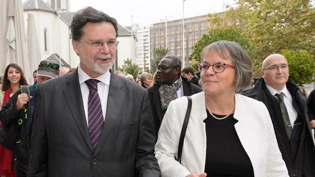 Robert Cramer und Liliane Maury Pasquier.