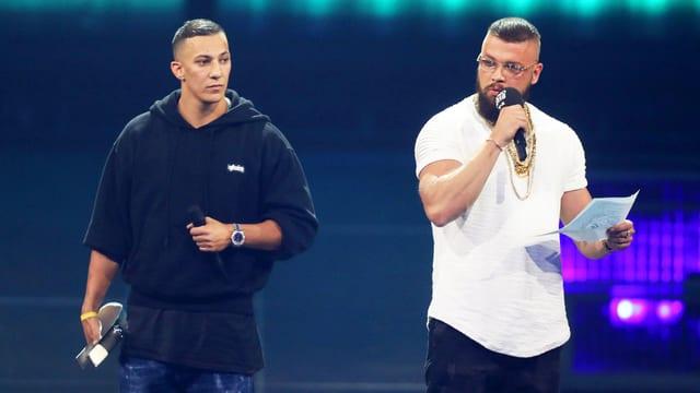 Skandal-Rapper Farid Bang und Kollegah an der «Echo» Verleihung 2018