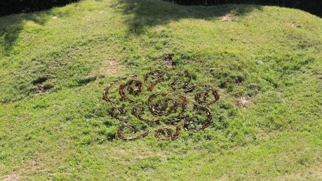 Land Art da Xenia Stäger en il Parc Ela.